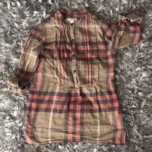 Girls Burberry Tunic Top